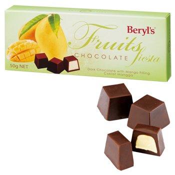 マンゴー入りチョコレートとそのパッケージ