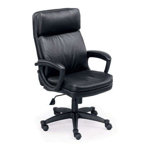 (Sterling Collection Faux Leather HighBack Executive Chair Black Faux Leather Black Frame)