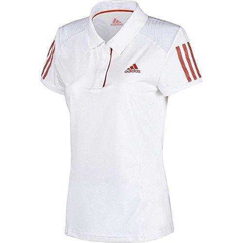 Adidas Women's Barricade Polo White/Red (Small)