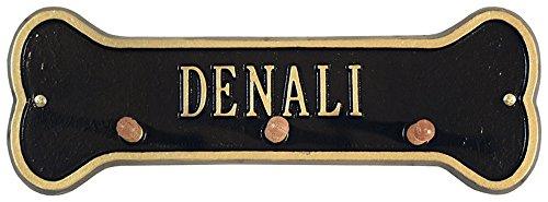 Whitehall 1 Line (Wall Bone Leash Holder One Line in Black / Gold)