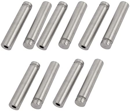 CHENBIN-BB 12mmx62mmステンレススチールガラススタンドオフピンがマウントボルト10個入りを修正宣伝します