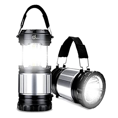 COB LED Lantern, Odoland 2-In-1 300 Lumen LED Camping Lantern Handheld Flashlights, Camping Gear Equipment for Outdoor Hiking, Camping Supplies, Emergencies, Hurricanes, - Outdoor Gear