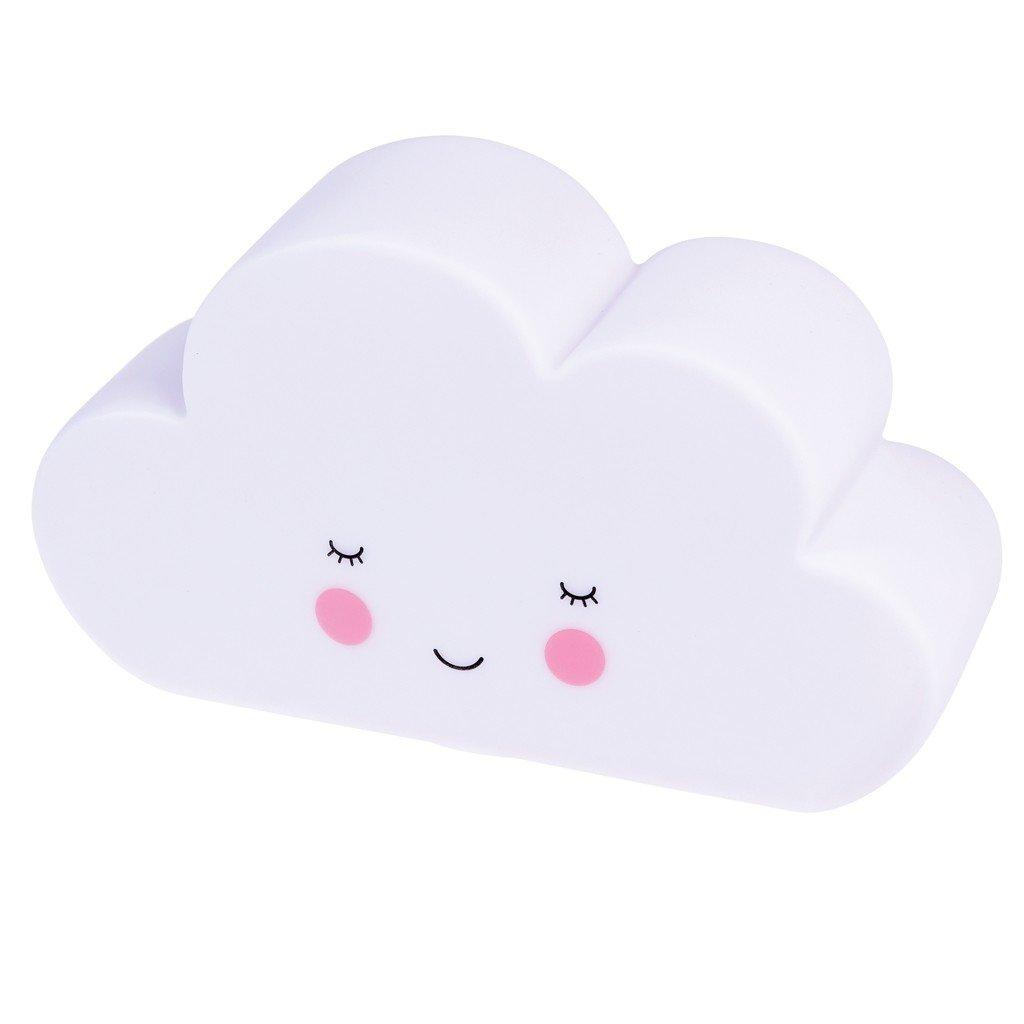L/ámpara quitamiedos nube blanca