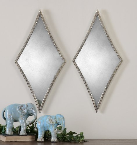 Uttermost Gelston Silver Mirror with Scalloped Profile Finished In An Oxidized Plated Silver Accent
