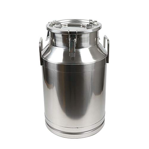 40L Milk Bucket, Stainless Steel Milk Can Wine Pail Bucket Tote Jug In One Piece 40L Usa Seller Sealed Liquid Storage Barrel Canister Gallon Milker from LOYALHEARTDY19
