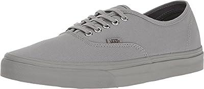 Vans Unisex Authentic Primary Mono Skate Shoes Frost Grey, Men's 5.5 Women's 7
