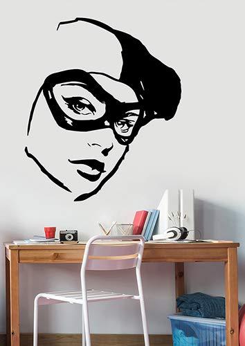 Harley Quinn Face Wall Art Sticker Vinyl Decal Comics Superhero Decorations for Home Teen Kids Girls Room Bedroom Decor hqn8]()