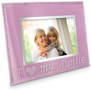 Pink Glitter I Love My Auntie Photo Frame Amazoncouk Toys Games