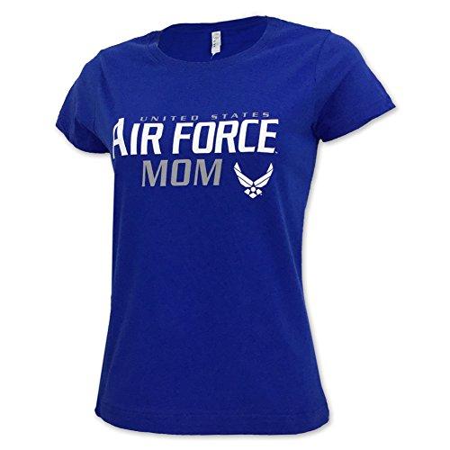 Ladies US Air Force Mom T-Shirt large royal