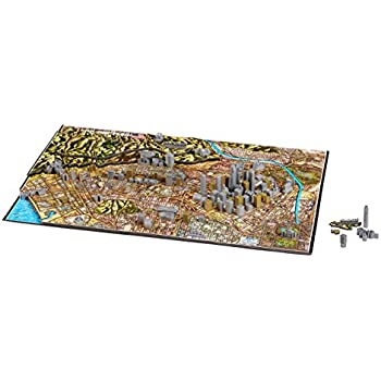 4D Cityscape Los Angeles Time Puzzle (800 Piece)