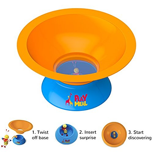PlayMeal Kids Adventure Food Bowl, Stops Mealtime Fuss and Motivates Healthy Eating Habits for Kids, Includes 3 Surprise Toys