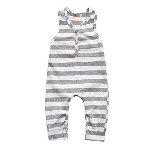 Viworld Baby Girls Boys Clothes Gray and White Stripe Top Pants Outfits Set (Gray and White Stripe, 100(18-24 Months)) - Stripes Boy Note