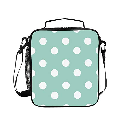 Insulated Lunch Bag Polka Dots Lunchbox Waterproof Cooler Warm Bags Reusable Tote Box