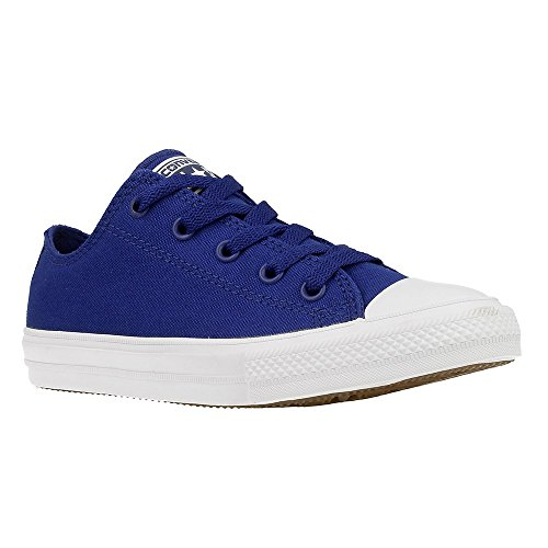 Converse Youth Chuck Taylor All Star II Ox (2 Little Kid M, Sodalite Blue) by Converse