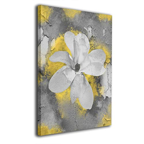 Ale-art Yellow Gray Modern Abstract Floral Wall Art for Living Room Bedroom Canvas Wall Art Decor Framed Canvas Artworks Prints Giclee Ready to Hang for Home Decoration 16