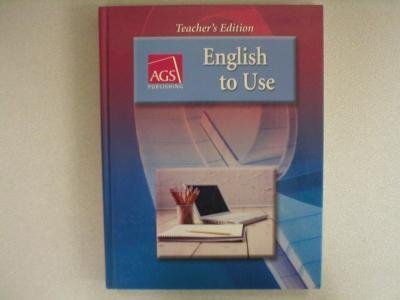 Read Online English to Use, Teacher's Edition pdf