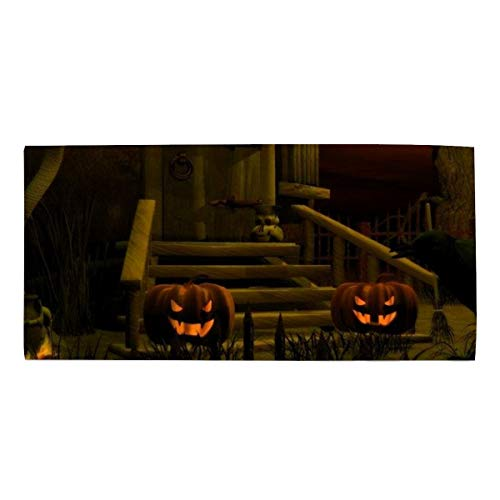Scary Halloween Pumpkin Luxury Bathroom Hand Towels, Hotel & Spa Quality Hand Towels 11.8 X 27.5 Inches ()