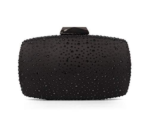Sparkling Evening Clutch Purse Vandysi Elegant Glitter Bag Crystal Rhinestone Handbag for Dance Wedding Party Prom Bride (2, Black) (Designer Evening Clutch Bag)