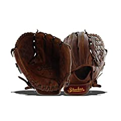 Infielders looking for a durable glove that's ready to play should try this soft Shoeless Joe® 11.75-inch basket weave pocket adult baseball glove. Its antique-looking 100% tobacco-tanned steerhide is hand-oiled and laced to give you a worn-i...