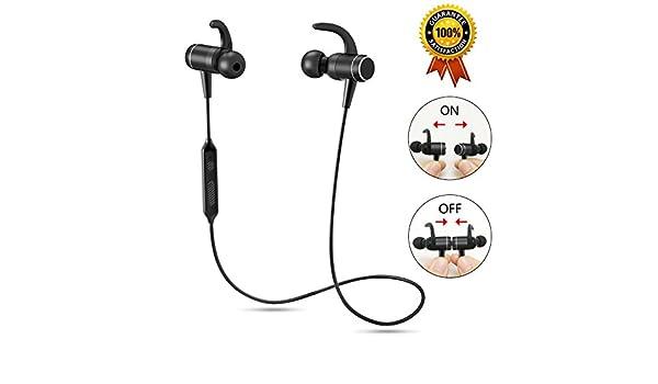 Auriculares con Bluetooth para correr, inalámbricos, micrófono integrado, anulación de sonido, bajos graves, incluye suaves ganchos de seguridad, ...