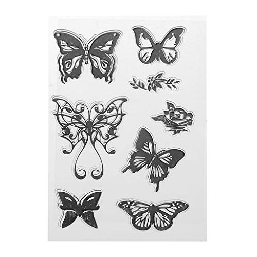 Haayward Butterfly Silicone Clear Seal Stamp DIY Scrapbooking Embossing Photo Album Decorative Paper Card Craft Art Handmade Gift ()