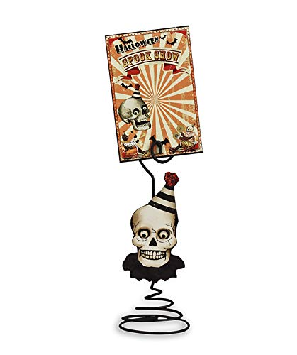 Bethany Lowe Halloween Skull Placecard Holders with Spook