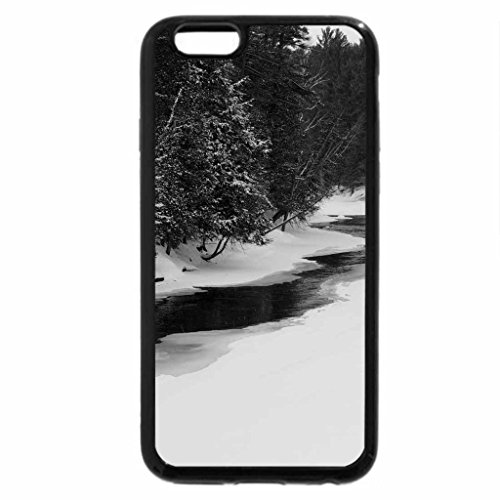 iPhone 6S Plus Case, iPhone 6 Plus Case (Black & White) - Creek In The Valley