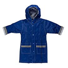 FIT RITE Boys Hooded Waterproof Long Raincoat with Reflective Stripes