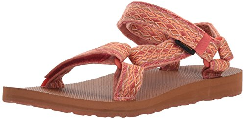 Teva Women's W Original Universal Sport Sandal, Miramar Fade Coral Sand Multi, 7 M US