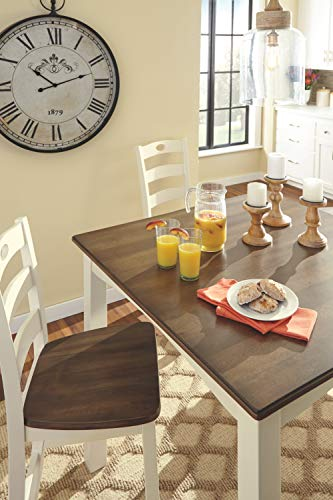Signature Design by Ashley D335-223 Woodanville Counter Height Dining Room Table and Bar Stools (Set of 5) Cream/Brown by Signature Design by Ashley (Image #3)