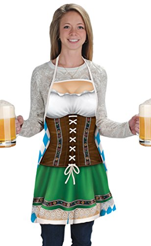 Beistle Women's 54625 Fraulein Fabric Novelty Apron