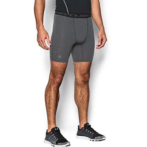 Under Armour Mens Heatgear Coolswitch Armour Twist Shorts  Carbon Heather Graphite  X Large