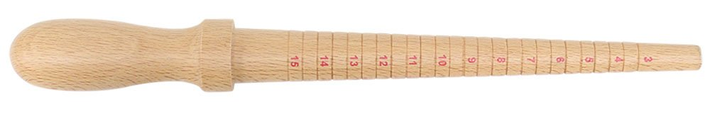 3 Inch Classic Ring Mandrel For Sizes 3-15 In Blond Wood