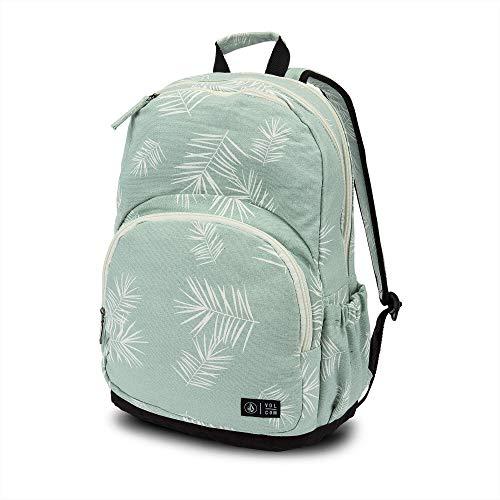 Volcom Junior's Women's Fieldtrip Three Pocket Canvas Backpack, light blue, One Size Fits All (Girls Volcom Backpack)