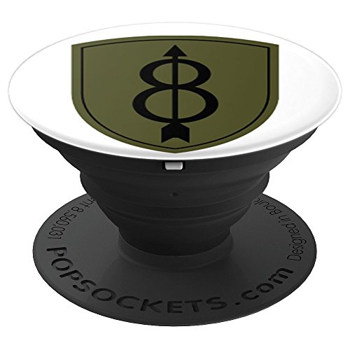 Insignia Camo - 8th Infantry Insignia - Camo - PopSockets Grip and Stand for Phones and Tablets