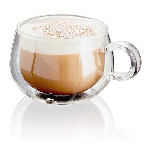 -[ Judge JDG30 Set of 2 Double Walled Cappuccino Glasses 225 mils  ]-