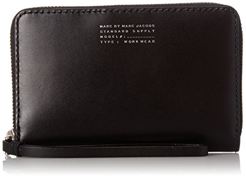 Marc by Marc Jacobs Quintessential Wingman Wristlet, Black, One Size by Marc by Marc Jacobs