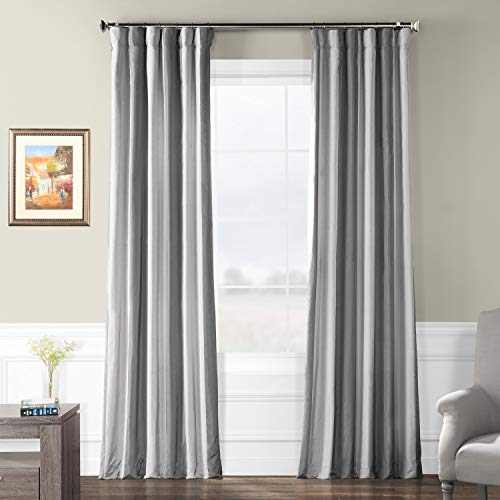 (Pts-SLK001-84 Faux Silk Stripe Curtain, 50 x 84, Hartford)