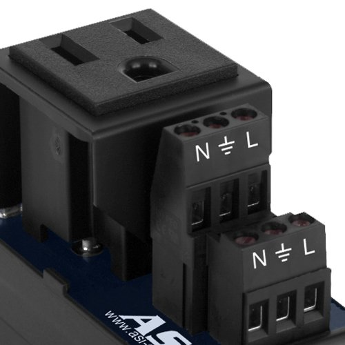 ASI IMACP01 Single Three Prong Grounded AC Outlet Power Module, AC Receptacle, Din Rail Mounted Convenience Outlet