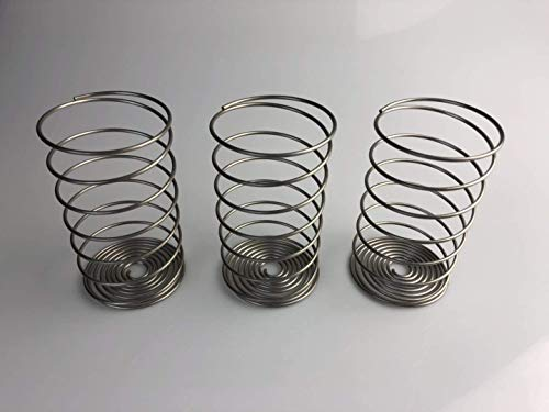 zhuu Fermentation Weights For Making Sauerkraut in Wide Mouth Mason Jars,Stainless Steel Pickle Helix Coils 3 Pack, Best Way To Hold Vegetables Under Water For Fermentation