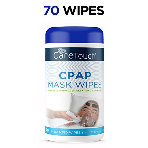 (Care Touch CPAP Cleaning Mask Wipes - Unscented, Lint Free - 70)