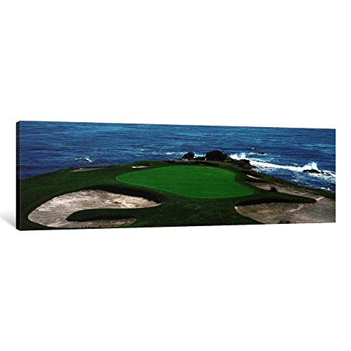 iCanvasART Pebble Beach Golf Course 8Th Green Carmel Ca Canvas Print by Panoramic Images, 48 by 16