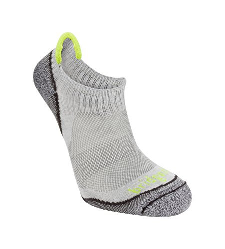 Bridgedale Men's Coolmax Ultra Light Trail Sport - Cool Comfort No Show Socks, Grey, Large ()