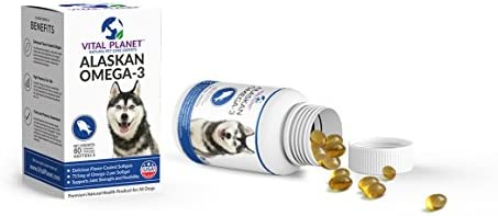 Vital Planet – Alaskan Omega-3 for Dogs – 60 Chewable Softgels