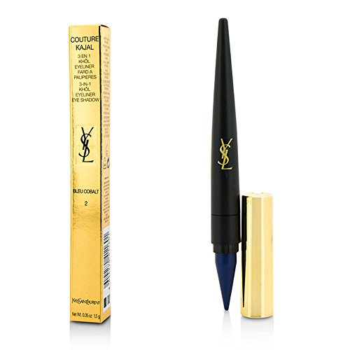 Yves Saint Laurent Couture Kajal 3 In 1 Eye Pencil (Khol/Eyeliner/Eye Shadow) - 1.5G/0.05Oz (Color: #2 Bleu Cobalt) ()
