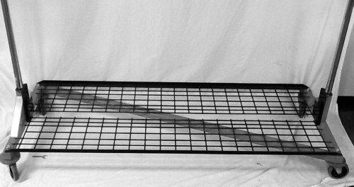 (Deluxe Bottom Shelf Storage Accessory for Metropolitan Display Deluxe M10 Series 5' Foot Z-Racks, Gloss Black)