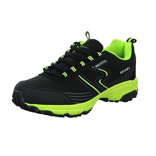 2 Schwarz Leichtwanderhalbschuh Herren Sneakers Schwarz 86255 4wUp8p