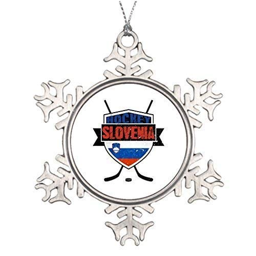 wonbye Christmas Ornaments 2018, Best Friend Slovenia Ice Hockey Shield House Decor Ideas Metal Snowflake Tree Decoration, Friends ()