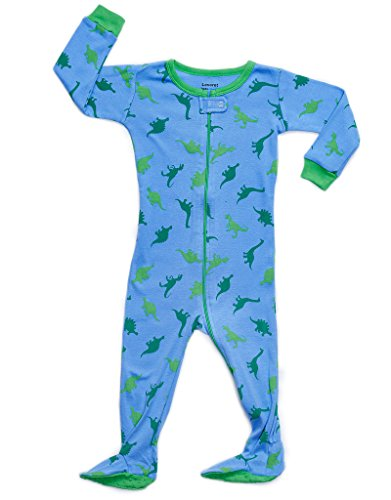 Leveret Dino Blue Footed Pajama,Dinosaur,4 Years