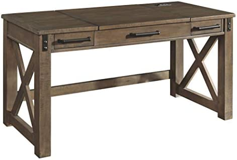 Signature Design by Ashley Aldwin Home Office Lift Top Desk Gray